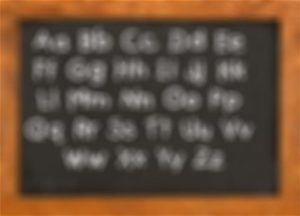 chalkboard-blurred